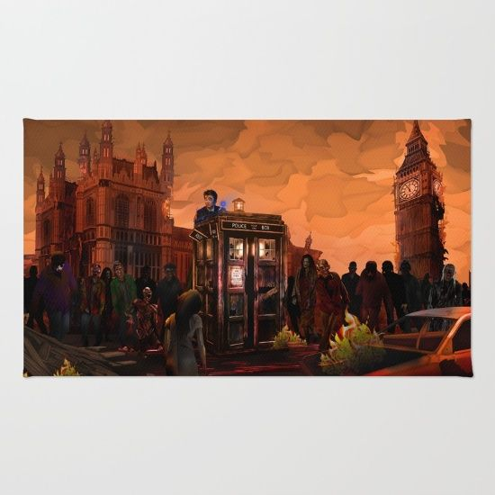 10th Doctor who trapped in the zombie land RUG 2 #rug #dontblink #statue #angel #spring #winter #fall #autumn #davidtennant #10thdoctor #fog #mist #doctorwho #tardis #starrynight #vangogh #halloween #summer #aztec #mayansimbols #dreamcatcher #zombie