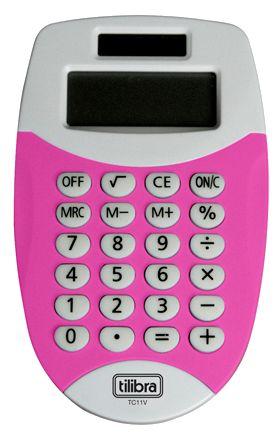 Calculadora Eletrônica de Bolso Tilibra - Rosa - Tc11 - Eu quero uma dessa!!! =D