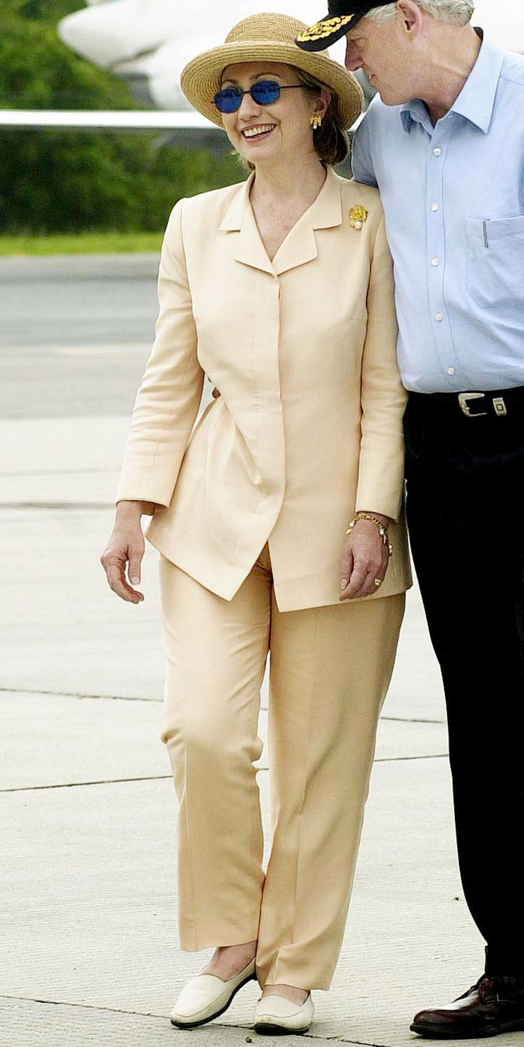 Hillary Clinton's Career in Pantsuits - July 4, 2000 from InStyle.com