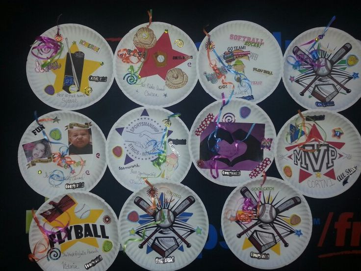 My Softball Paper Plate Awards