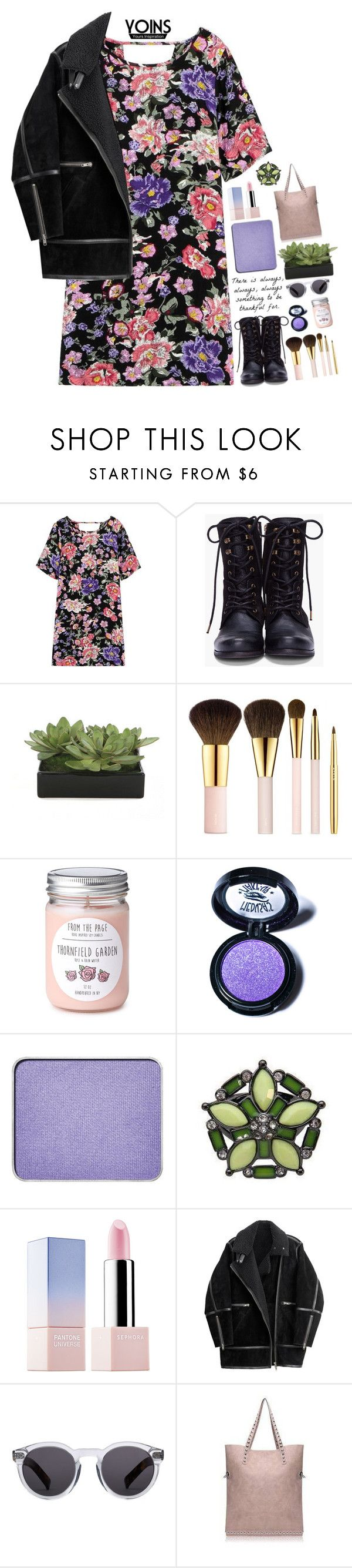 """""""Yoins III"""" by amethyst0818 ❤ liked on Polyvore featuring Diesel, Lux-Art Silks, AERIN, Medusa's Makeup, shu uemura, Sephora Collection, H&M, Illesteva, women's clothing and women's fashion"""