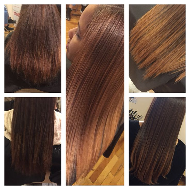 Four stages of Brazilian straightening treatment