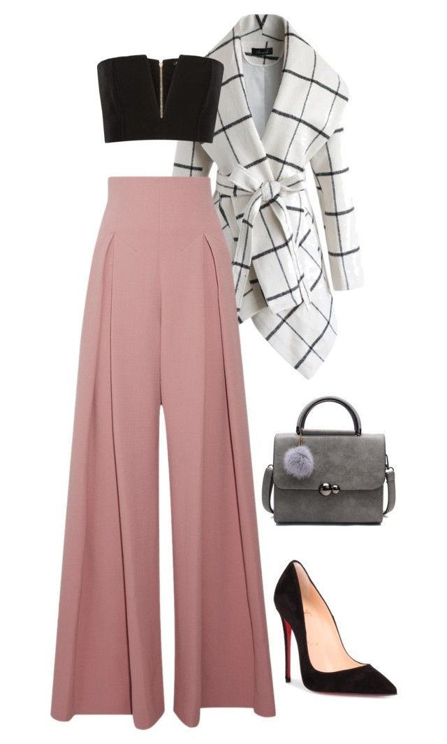 """""""Untitled #8"""" by erinbishop on Polyvore featuring Chicwish, Balmain, Emilia Wickstead and Christian Louboutin"""