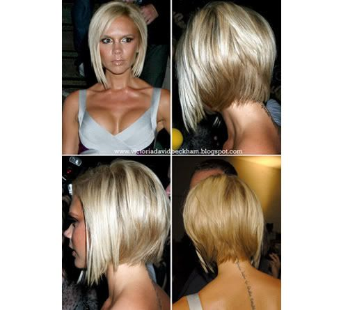 How To Style Hair Like Victoria Beckham Bob Hairstyle Back View  Victoria Beckham Bob Haircut Back View .
