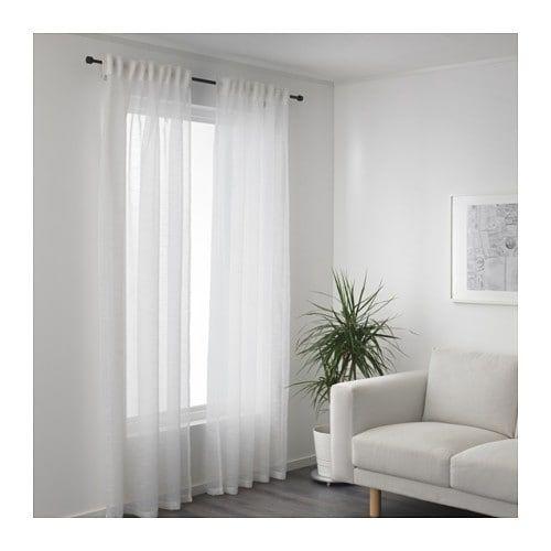 Gjertrud Sheer Curtains 1 Pair White 57x98 In 2020 White