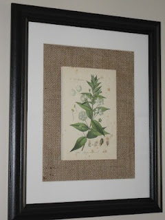 I like the burlap around the frame...I may do this with all of our frames with the extra burlap I have hanging around!!