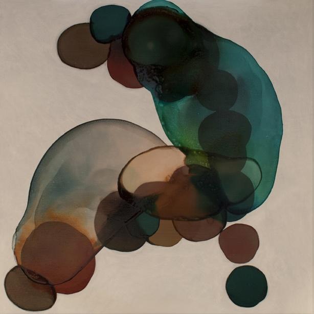 2-017 • creation - lény 1 - 100 x 100 cm - acrylic and lacquer on canvas - akril, lakk, vászon - romvári márton contemporary art