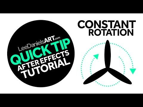 QUICK TIP | After Effects | Constant Rotation - YouTube