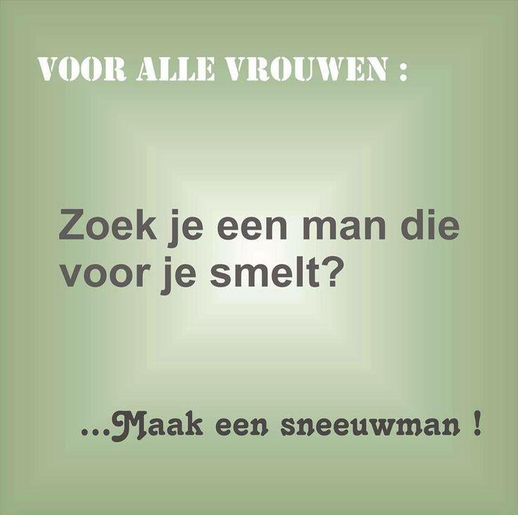 Voor alle vrouwen: zoek je een man die voor je smelt?..... Maak een sneeuwman!