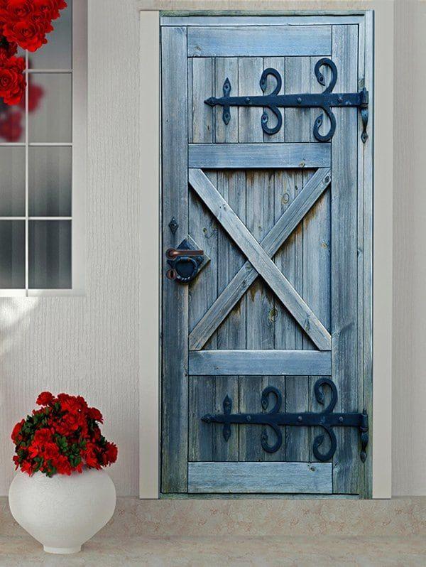 Vintage Wooden Door Print Decals In 2018 Kitchen Cabinetry Ideas Pinterest Doors And