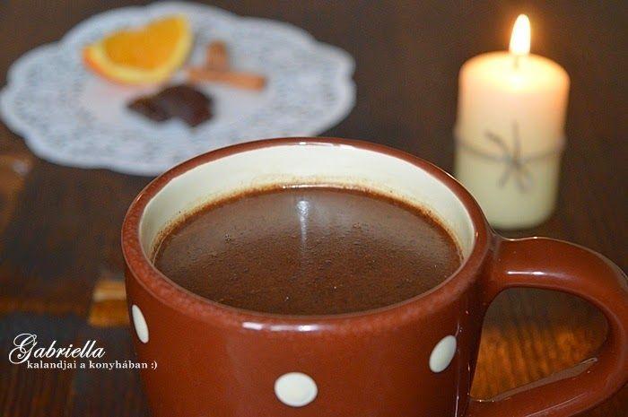 Gabriella kalandjai a konyhában :): Klasszikus forró csokoládé