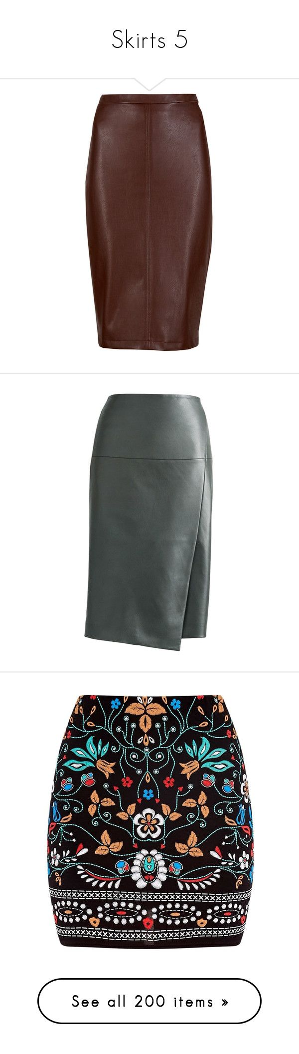 """Skirts 5"" by smilie-anne ❤ liked on Polyvore featuring skirts, bottoms, jupes, pencil skirts, saias, brown, lined skirt, petite brown skirt, zip back pencil skirt and brown pencil skirt"