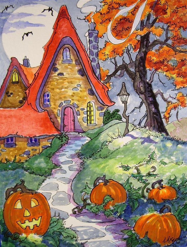 Oh So Ready for Halloween Storybook Cottage Series - Alida Akers