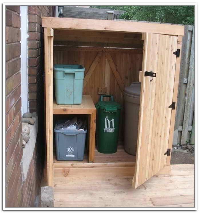 Diy Outdoor Storage Cabinet Almacenamiento De Basura Almacenamiento De Latas Almacenamiento De Reciclaje