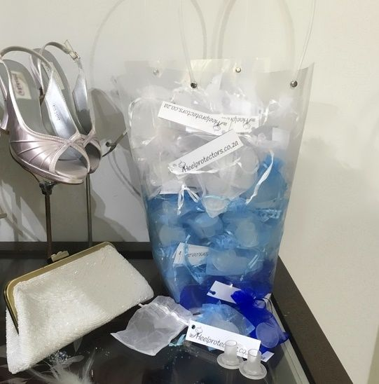 Heel Protectors Wedding Gift Hamper. This wedding gift hamper is ideal for outdoor wedding venues. Buy them Online - Fast delivery anywhere in South Africa.