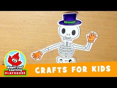 skeleton halloween craft for kids maple leaf learning playhouse youtube - Youtube Halloween Crafts