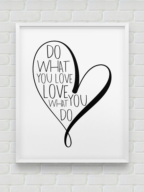 printable 'do what you love' print // von spellandtell auf Etsy