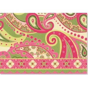 Pink paisley note cards by Peter Piper Press $7.99 at Amazon