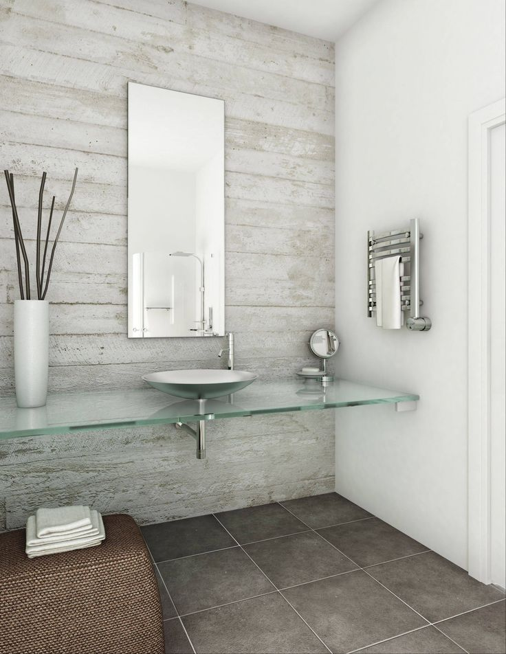 Spa style: Towel warmers add an element of luxury to the bathroom.
