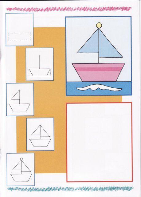 Zeilboot tekenen met kleuters