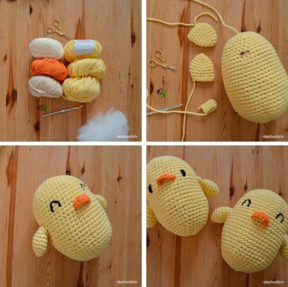 ¡Pascua a lo grande con patrones de huevos y pollos gigantes!   http://www.katia.com/blog/es/patrones-gratis-ganchillo-amigurumi-huevos-pollitos-pascua-xxl/