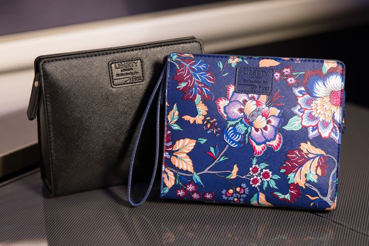 British Airways has unveiled new amenity kits for First Class passengers, featuring designs from Liberty London and products from Aromatherapy Associates.