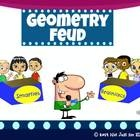 Geometry Feud - Just like the classic game show, Family Feud, this classroom powerpoint is sure to bring the fun and competition into your class!!  Some of the terms included: cube, cone, cylinder, prism, pyramid, circle, square, rectangle, rhombus, trapezoid, parallelogram, octagon, pentagon, perpendicular lines