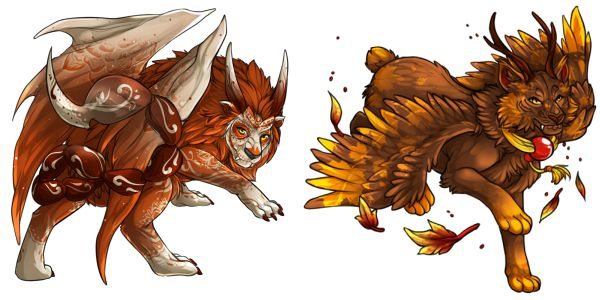 """Day of the Dead"" Manticore & ""Autumn Leaves"" Sorako"
