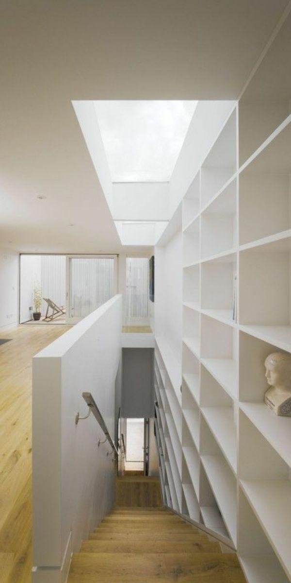 Fabelhafte Bücherregale Weiß Treppe