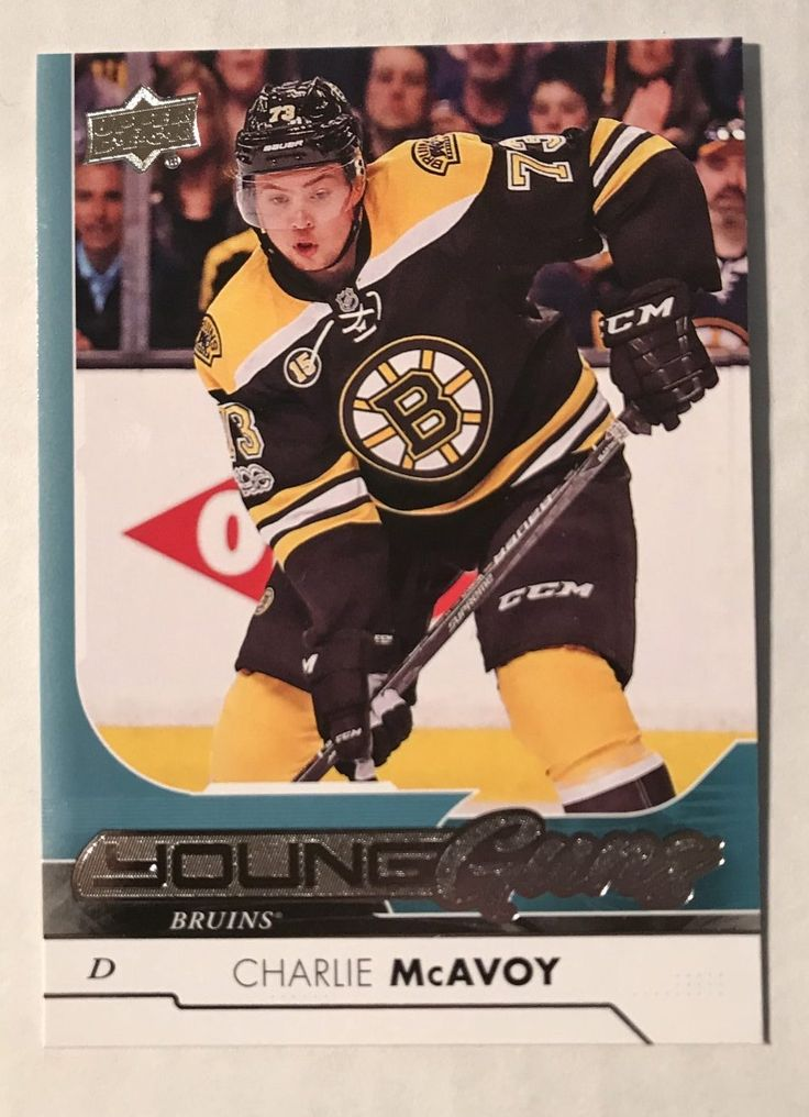 I wanted to highlight this Charlie McAvoy Young Guns card we just picked up because the Young Guns Franchise does not depend on autograph or low # Serial number gimmicks to be highly sought after. 2005-06 Sidney Crosby $850.00, 2015-16 Connor McDavid $500.00, 2017-18 Charlie McAvoy $50.00. Virtually every player in the NHL has a Young Gun Rookie Card.   #BostonBruins #HockeyCards