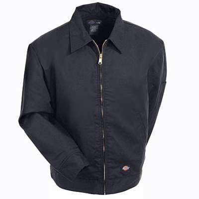 Dickies Jackets: Men's Black Lined Eisenhower Jacket TJ15BK