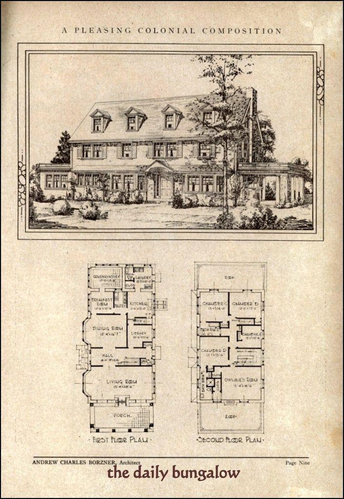 253 best HOUSEPLANS images on Pinterest Floor plans, Vintage homes - copy what is blueprint paper called