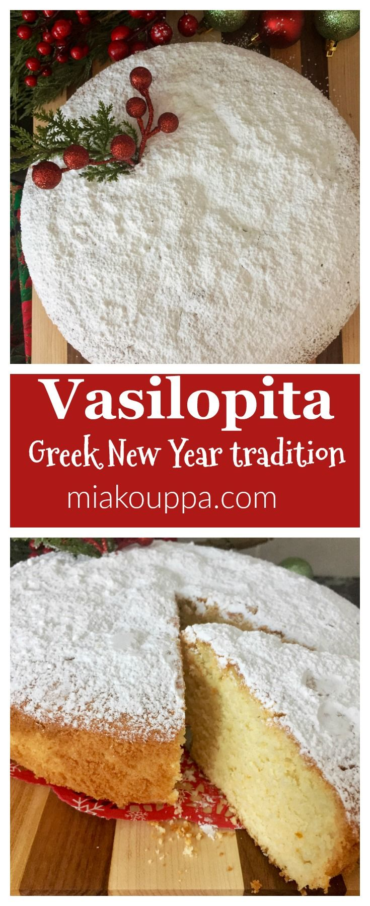 Happy New Year y'all! Vasilopita (Βασιλόπιτα). An easy and delicious recipe, for the traditional Greek cake served for New Years!