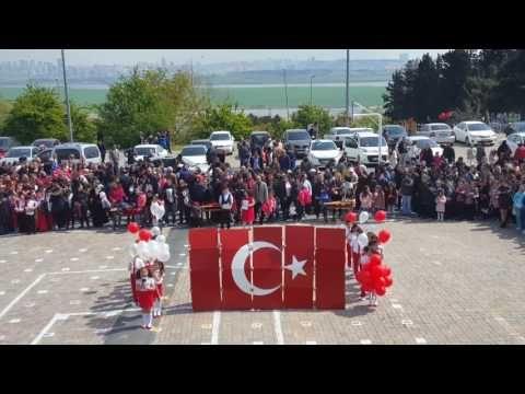 Firuzköy İlkokulu 23 Nisan Ulusal Egemenlik ve Çocuk Bayramı Bayrak Rondu Gösterisi - YouTube