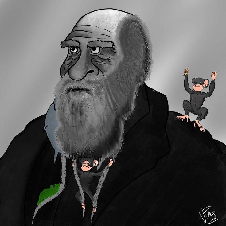 Paolo Pezzella - #DarwinDay - illustration - Masonry / Massoneria Creativa - www.massoneriacreativa.com