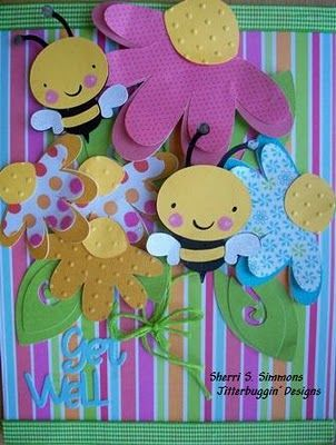 Cricut Create a Critter bees. Walk in my garden flowers. Love, Laughter, and Creations!
