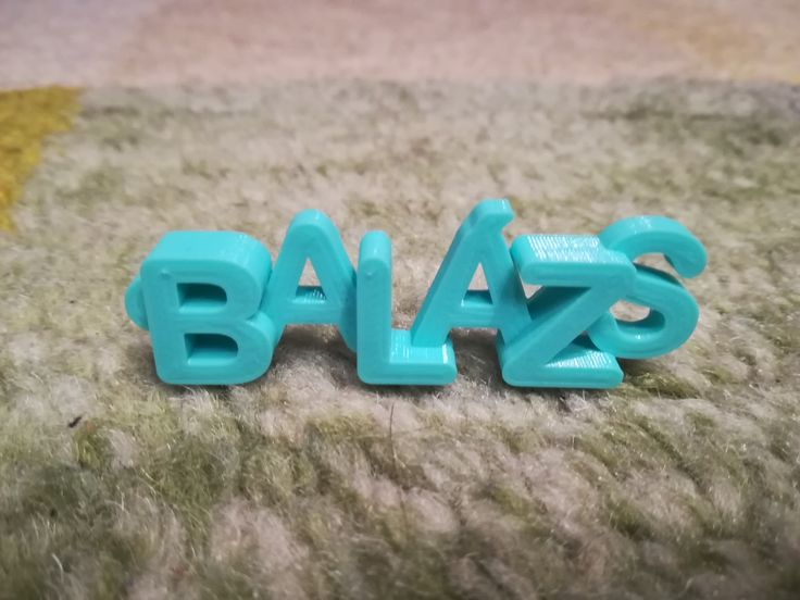 Personalised 3D Printed Keychain for Balázs.  #3dprints #3dprinted #keychain #keyring #kulcstartó #balázs