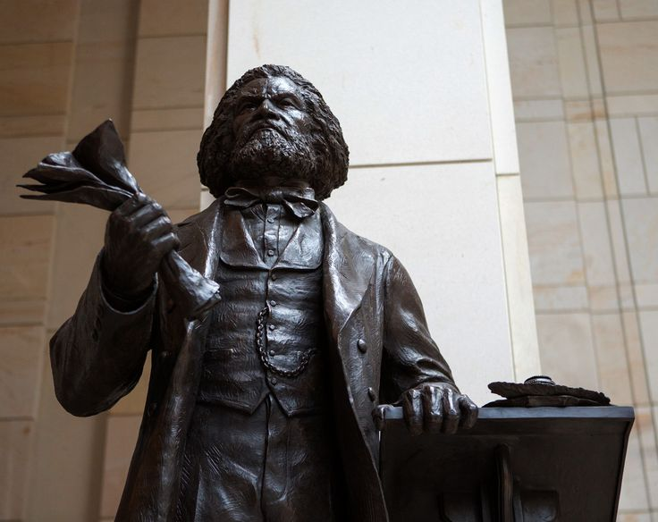 The Frederick Douglass statue in the Emancipation Hall of the capitol's visitor center is the fourth dedicated to an African American leader — it joined statues of Rev. Martin Luther King Jr., Rosa Parks, and Sojourner Truth.