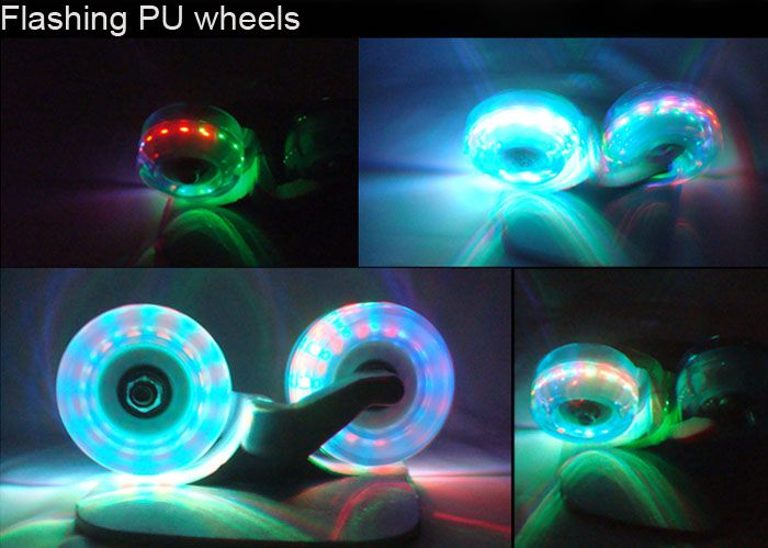Four Wheels Cool Lighting Effect Drift Skate Freeline Skate Flying Skateboard with Aluminium Alloy Deck Board-41.17 and Free Shipping| GearBest.com