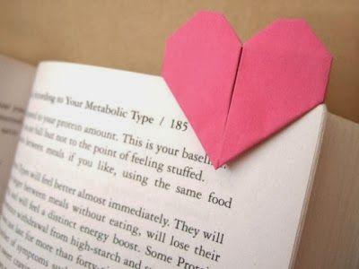 Devaneios da Lila: Marcador de página de coração em origami, passo a passo!