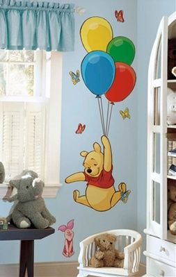 RoomMates RMK1499GM Pooh and Piglet Peel and Stick Giant Wall Decal, (18x40)