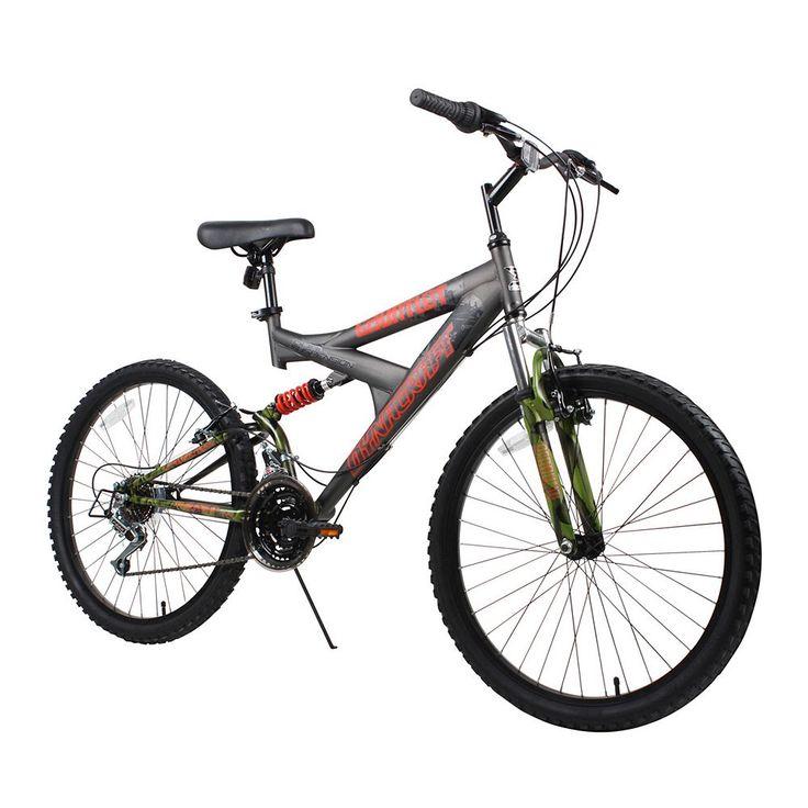 Dynacraft 24-in. Gauntlet Full Suspension Mountain Bike - Boys, Grey