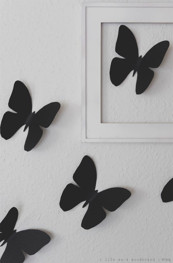 life as a moodboard: DIY | cardboard butterflies