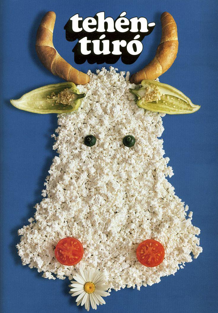 Tóth József: Tehéntúró reklám (1974) Cow cottage cheese - advertisement