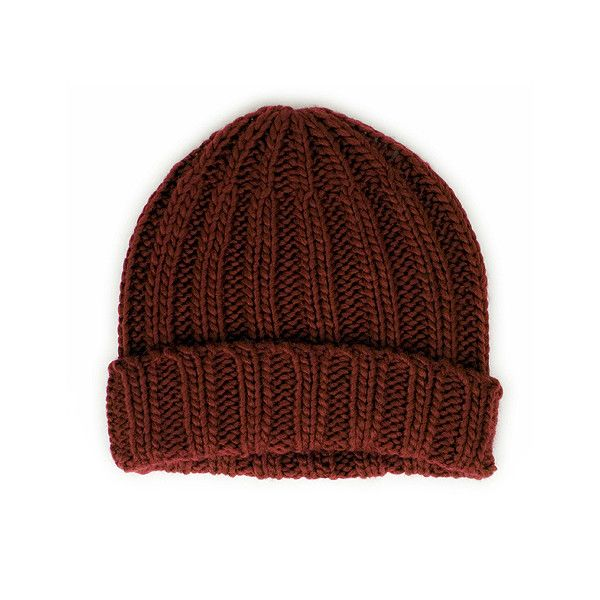 Wigwam Old School Beanie Burnt Henna ($18) ❤ liked on Polyvore featuring mens, men's accessories, men's hats, hats, accessories, beanies, hair and men
