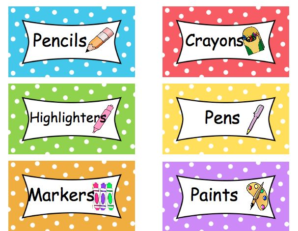 This is an image of Légend Free Printable Classroom Labels