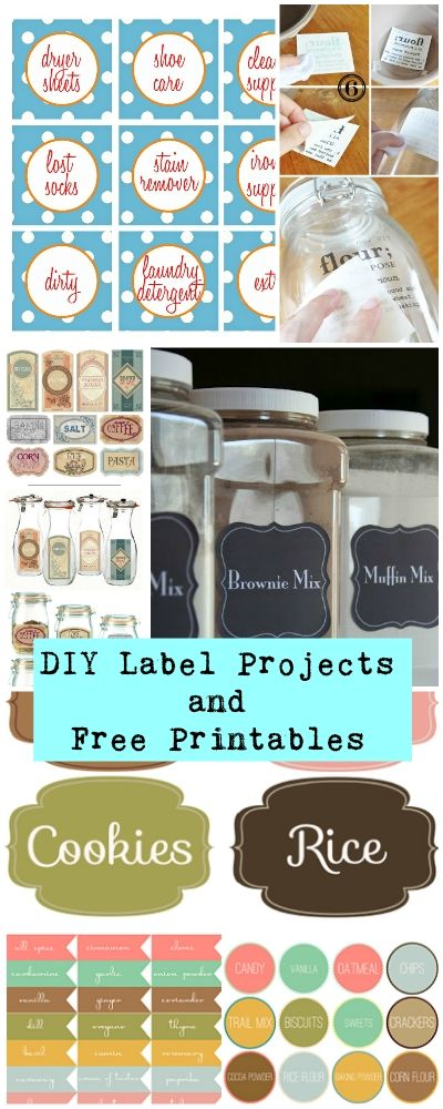 DIY Label Projects and Free Printables • Tutorials and printables for learning to print labels for your kitchen and other containers, even gifts!