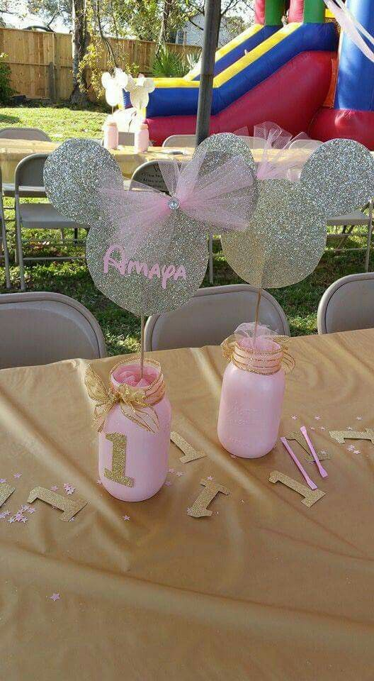 Pink Gold Center pieces