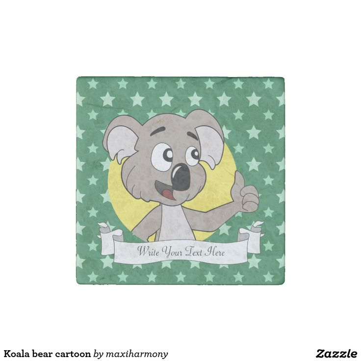 Koala bear cartoon stone magnet