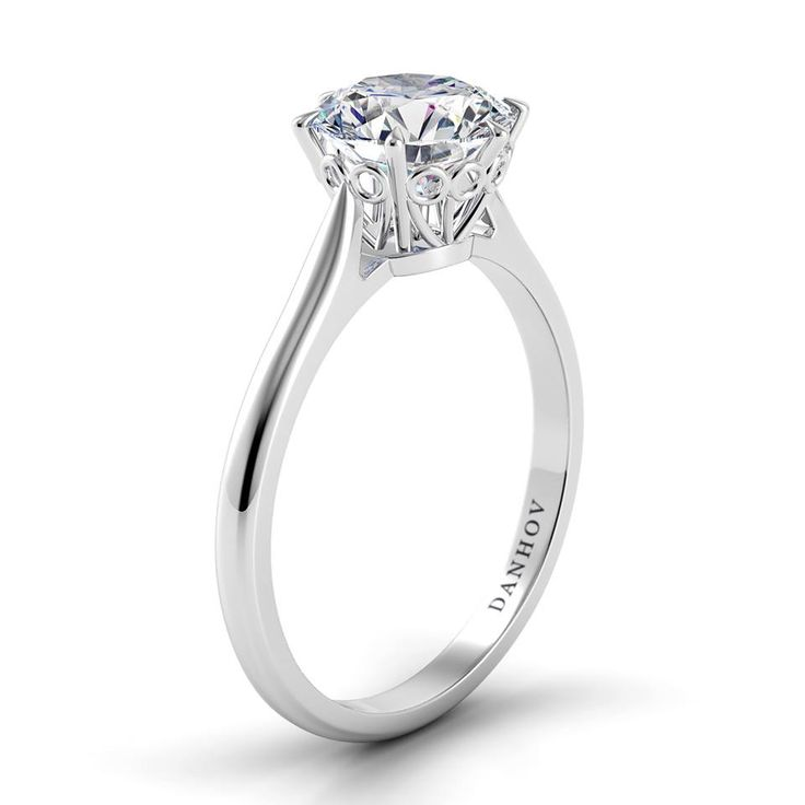 A classic solitaire is never out of style. #Danhov Collection exclusively at #Capri #Jewelers #Arizona ~ http://www.caprijewelersaz.com/danhov ♥ #Financing Options ~ Upgrade & Update your old jewelry to new ~ Huge #Savings on center #Diamond with any #bridal purchase ~ No Credit Check Option & more ♥